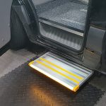 additional step for help disabled into car