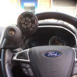Steering wheel radio remote